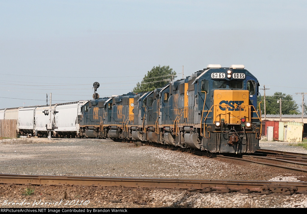 CSX #6065 on the local.