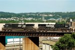 NS 9-40CW 9958 & 9396 lead 36A across the OC bridge