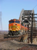 BNSF bridge over Missouri River at Sibley at Kansas City, MO