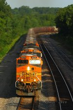 Eastbound BNSF Loaded Grain Train