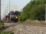 Eastbound NS stack train heads for Croxton yard