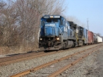 NS train 33A, led by an ex CR C40-8, heads west for Allentown PA