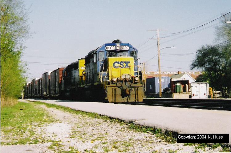 CSX 8302 Westbound at Fostoria