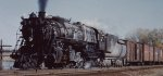 Great Northern 2-8-2 steam engine in Minneapolis MN 1954.
