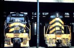 NKP 869 & NKP 482 in the Bellevue Roundhouse