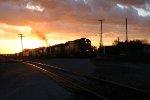 EB CN on ex-GTW at sunset 10-29-2006