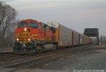 BNSF #4884 heads south