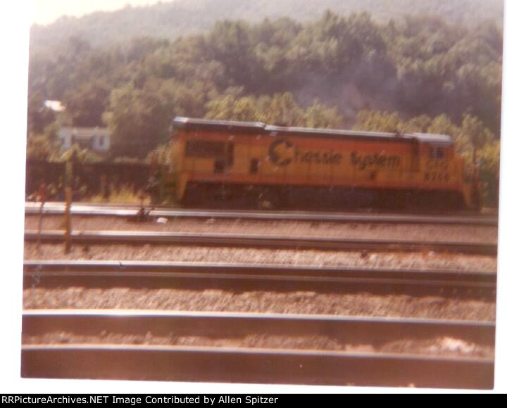 Chessie System C&O 8266 in the yard in Clifton Forge, Virginia