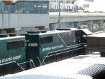 NYA 271 passes a Montauk Train at Jamaica Station
