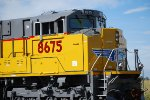 Zoom in shot of a Very, Very Brand New SD-70ACe just 10 Days Old from EMD Locomotive Plant London, Ontario, Canada.