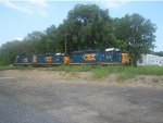CSX Locomotives at the Yard