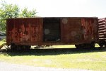 One of two C&O boxcars at the COHS