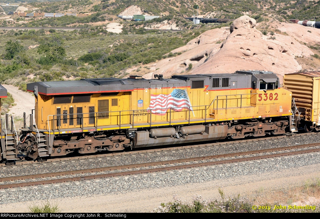 UP 5382 (ES44AC) at Cajon CA. 6/4/2015