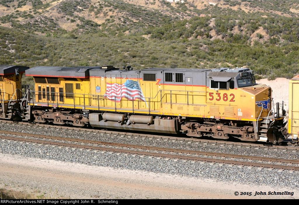 UP 5382 (ES44AC) at Cajon CA. 6/4/2015