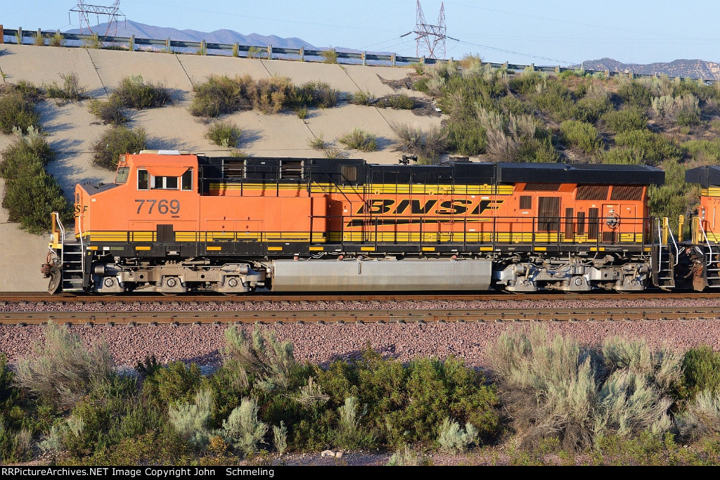 BNSF 7769 (ES44DC) at Alray-Cajon Pass CA. 4/6/2013