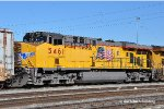 UP 5461 (ES44AC) at West Colton CA. 1/25/2011