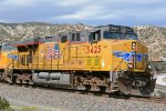 UP 5425 (ES44AC) Cajon Pass CA.  8/6/2015