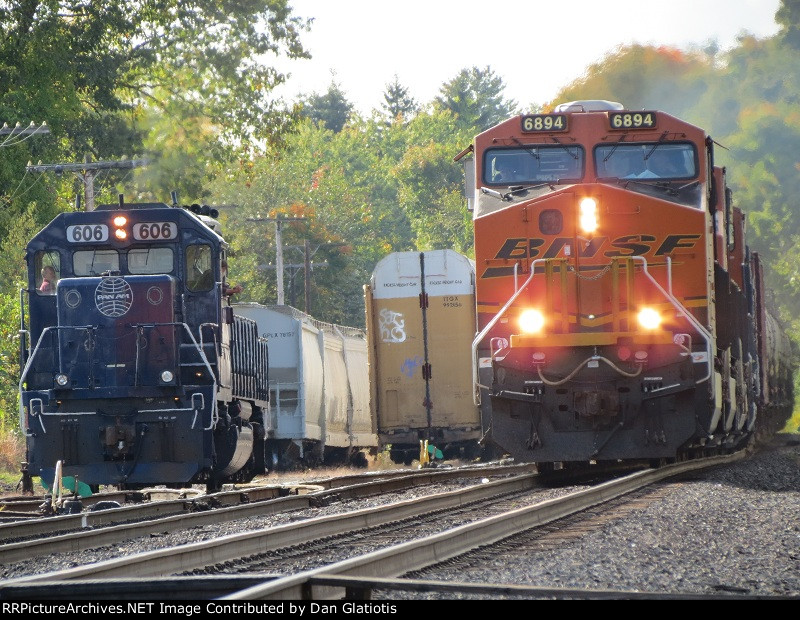 Loaded Oil Train meets Ayer Local