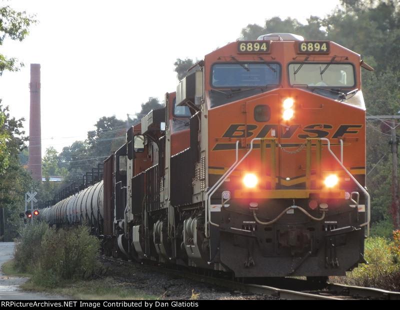 Loaded Oil Train in Graniteville