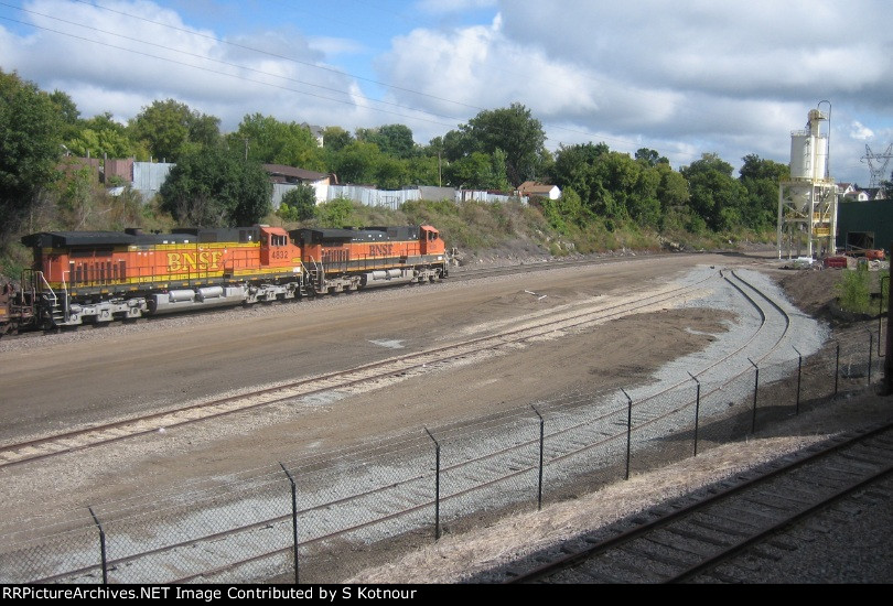 New glass recycling plant on a BNSF spur at the St Paul Jackson St Shops in Sept 2011