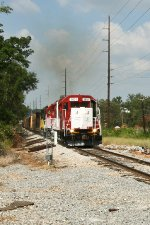 Univ. of Alabama locomotive on point