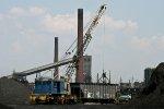 self-powered crane works industrial site