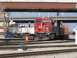 CP 8792 brings 182 out the east end before spotting it at the intermodal yard
