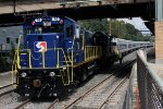 "Septa Work Diesels couple up to the flooded ""bomber"" set left at Trenton during Irene."