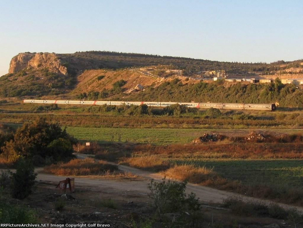 Train 118 near the tip of Carmel Mount