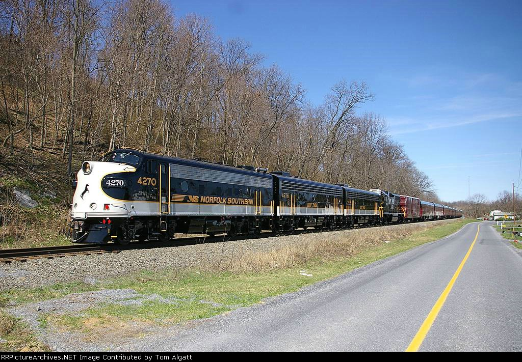 NS 951 heading west after passing CP Ship