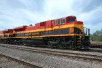 KCS 3997, EMD SD70ACe, ex EMDX 71, fresh KCS Southern Belle repaint, on the BNSF