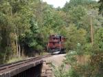 The diesel train arriving