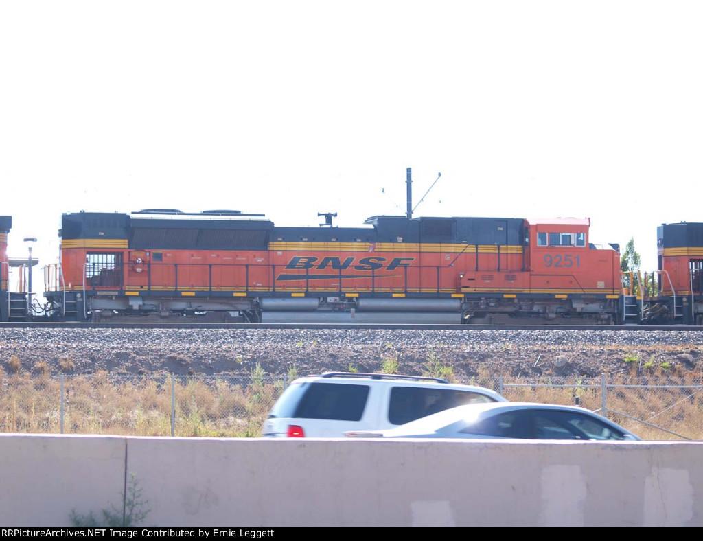 BNSF 9251 #2 power in a NB coal train at 10:00am