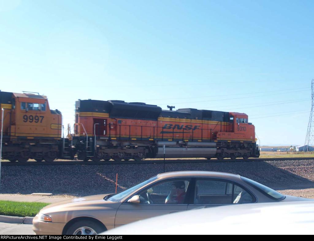 BNSF 9310 #2 rear DPU in a NB coal train at 9:51am