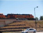 BNSF 6296 #2 DPU in a NB coal train at 12:21pm