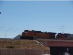 BNSF 5446 lead a NB manifest at 12:23pm