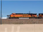 BNSF 5828 leads a NB coal train at 3:58pm