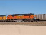 BNSF 8977 #1 rear DPU in a SB coal train at 4:14pm