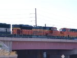 BNSF 9366 #2 power in  a NB coal train at 9:14am (stopped in siding)