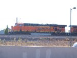 BNSF 6122 leads a NB coal train at 9:22am
