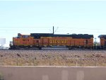 BNSF 9879 leads a NB coal train at 11:40am