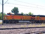 BNSF 5630 leads a NB coal train at 12:02pm