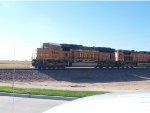 BNSF 9896 leads a NB coal train at 9:51am
