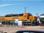 BNSF 1892 switching at 10:37am