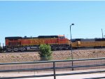 BNSF 4670 leads a SB manifest at 1:40pm
