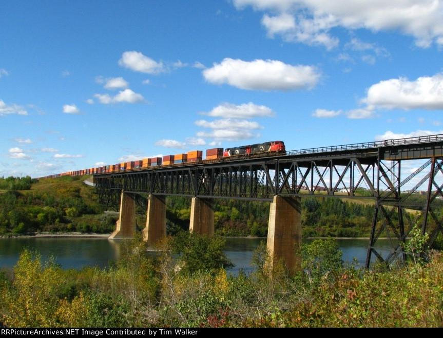 Crossing the North Saskatchewan river