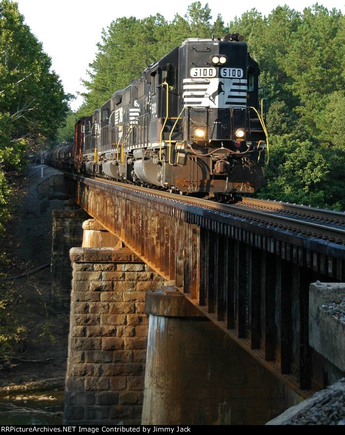 NS Local A21 crossing the Cahaba