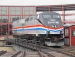 Amtrak 822 on the Steamtown Turntable