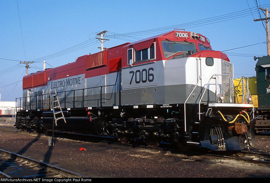 EMDX 7006, EMD SD70M, NEW at the Proviso Diesel Shop