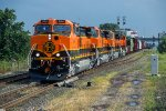 BNSF 964, GE C44-9W, First group of New GE's, and a new paint scheme for the BNSF on Conrail ELBNA